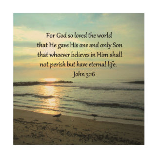 BEAUTIFUL SUNRISE JOHN 3:16 DESIGN WOOD WALL DECOR