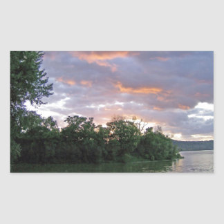 Beautiful Sunrise of Kentucky Rectangular Sticker