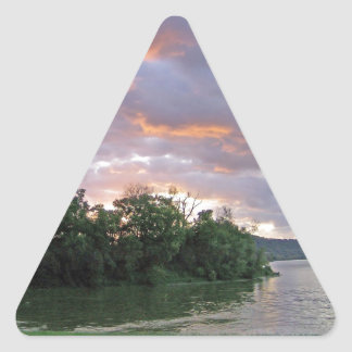 Beautiful Sunrise of Kentucky Triangle Sticker