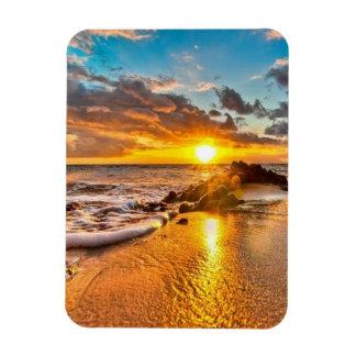 Beautiful sunrise on the beach magnet