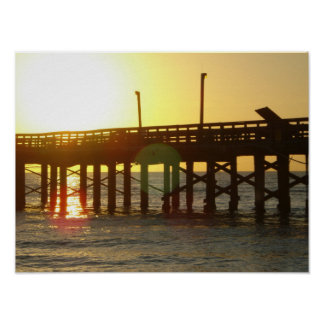 BEAUTIFUL Sunrise On The Pier in Miami Beach Poster