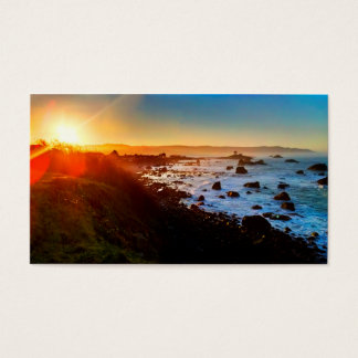 Beautiful Sunrise Over the Cliffs of Crescent City Business Card