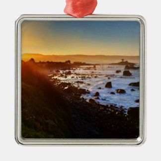 Beautiful Sunrise Over the Cliffs of Crescent City Metal Ornament