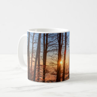 Beautiful Sunrise Peeking through the Trees Coffee Mug