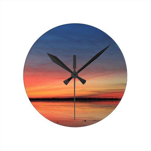 Beautiful Sunrise Round Wall Clock