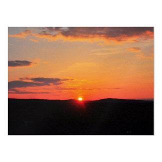 Beautiful sunset 6.5x8.75 paper invitation card