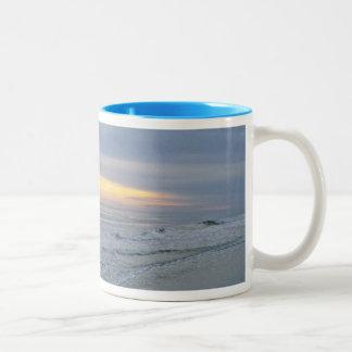 Beautiful Sunset Along Oak Island Coffee Mugs