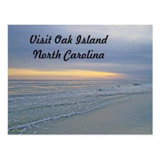 Beautiful Sunset Along Oak Island Postcard