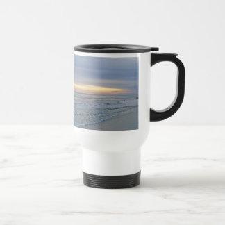 Beautiful Sunset Along Oak Island Seashore Travel Mug