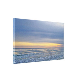 Beautiful Sunset Along the Seashore Canvas Print