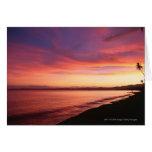 Beautiful sunset at the beach card