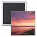 Beautiful sunset at the beach refrigerator magnet