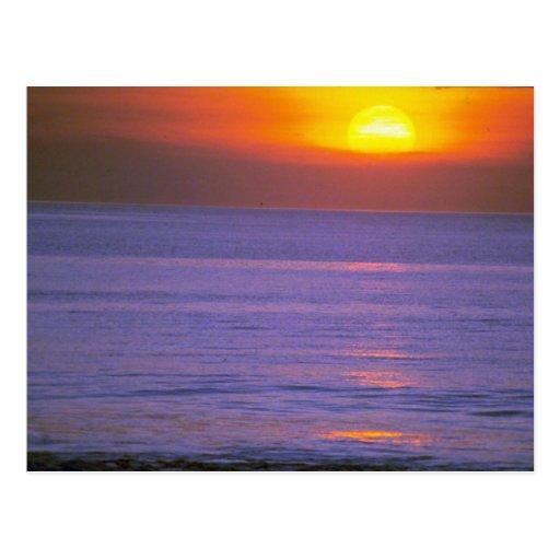 Beautiful Sunset: Bali, Indonesia Postcard
