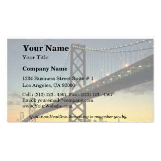 Beautiful Sunset: Bay Bridge, San Francisco, Calif Double-Sided Standard Business Cards (Pack Of 100)