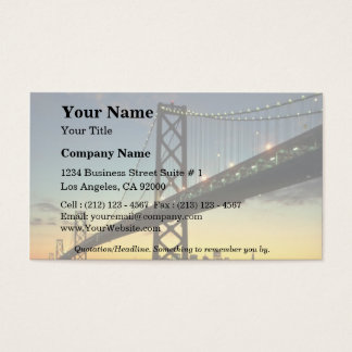Beautiful Sunset: Bay Bridge, San Francisco, Calif Business Card