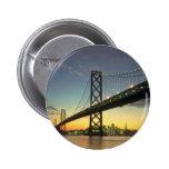 Beautiful Sunset: Bay Bridge, San Francisco, Calif Pins