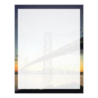 Beautiful Sunset: Bay Bridge, San Francisco, Calif Letterhead