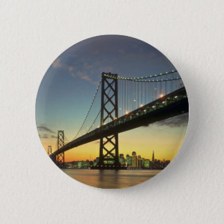 Beautiful Sunset: Bay Bridge, San Francisco, Calif Pinback Button