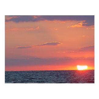Beautiful Sunset Beach, Cape May, NJ Postcard