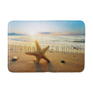 Beautiful Sunset Beach Custom Beach House Bath Mat Bath Mats