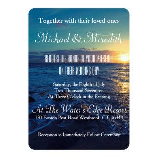 Beautiful Sunset Beach Wedding Invitation