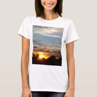 beautiful sunset blue yellow landscape relax T-Shirt