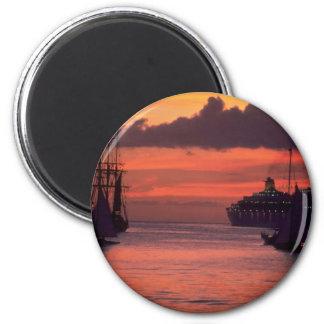 Beautiful Sunset: Bridgetown Harbor, Barbados Magnet