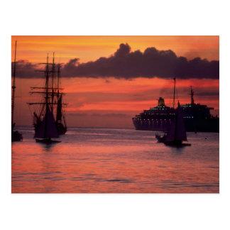 Beautiful Sunset: Bridgetown Harbor, Barbados Post Card