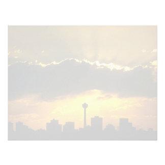 Beautiful Sunset: Calgary sunset, Alberta, Canada Letterhead