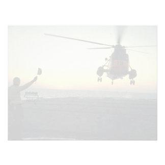 Beautiful Sunset: Canadian Navy, sunset landing, C Letterhead