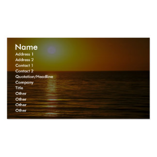 Beautiful Sunset: Cardiff-By-The-Sea, California Business Card Templates