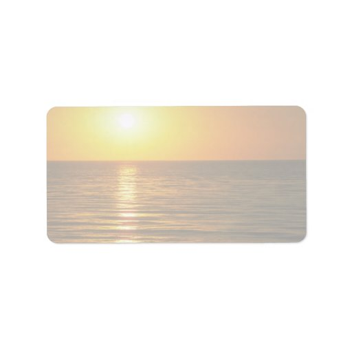 Beautiful Sunset: Cardiff-By-The-Sea, California Address Label