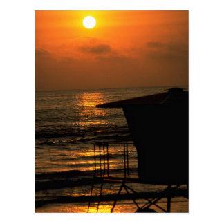 Beautiful Sunset: Carlsbad, California Postcard