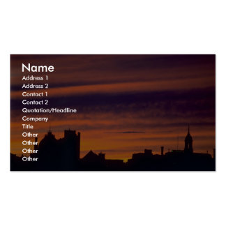 Beautiful Sunset: Clouds as sunset Business Card Template