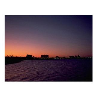 Beautiful Sunset: Corpus Christi, twighlight, Texa Postcard