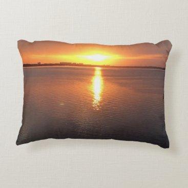 Beach Themed Beautiful Sunset Decorative Pillow