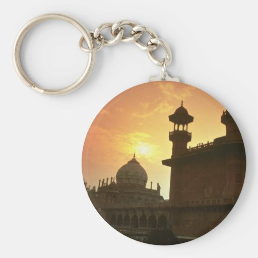 Beautiful Sunset: Delhi, India Keychains