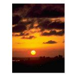 Beautiful Sunset: Downtown skyline, San Diego, Cal Postcard