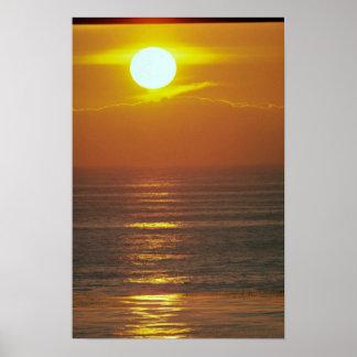Beautiful Sunset: Encintas, California Print