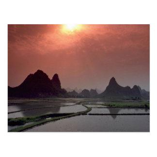 Beautiful Sunset: Guilin, China Postcard