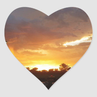 Beautiful Sunset Heart Sticker