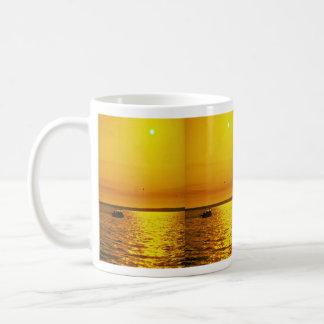 Beautiful Sunset: Hollster Ranch, Cojo Point, Cali Classic White Coffee Mug