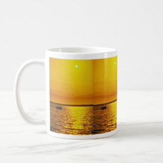 Beautiful Sunset: Hollster Ranch, Cojo Point, Cali Classic White Coffee Mug