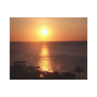 Beautiful Sunset in Curacao Canvas Print