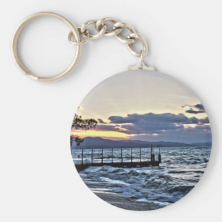 Beautiful Sunset in Montego Bay, Jamaica Keychain