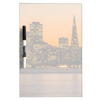 Beautiful sunset in San Francisco Dry-Erase Board