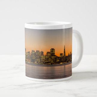 Beautiful sunset in San Francisco Giant Coffee Mug