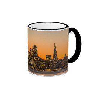Beautiful sunset in San Francisco Ringer Mug