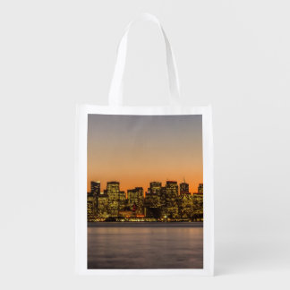 Beautiful sunset in San Francisco Market Totes