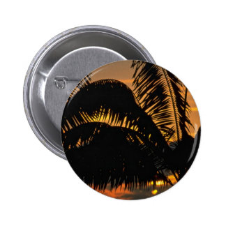 Beautiful Sunset: Kona, Hawaii Pinback Buttons
